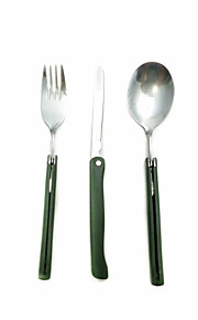ulkona astiat puku (haarukka + lusikka + veitsi astiasto)