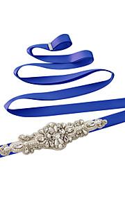 Satin Mariage / Fête/Soirée / Quotidien Ceinture-Paillettes / Billes / Perles / Strass Femme 250cm Paillettes / Billes / Perles / Strass