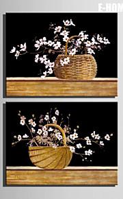 Botanisch Leinwand drucken zwei Panele Fertig zum Aufhängen,Vertikal