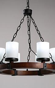 MAX 40W Retro Mini Estilo Pintura Madera/Bambú Lámparas ColgantesSala de estar / Dormitorio / Comedor / Habitación de estudio/Oficina /