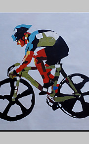 Handmade Modern Bicycle Figure Oil Painting On Canvas For Living Room Home Decor Wall Paintings Whit Frame