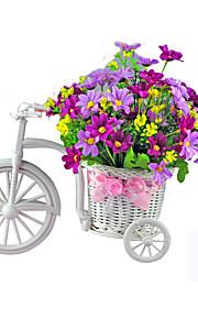 koriste polkupyörä kukka muovi valkoinen kolmipyöräinen polkupyörä suunnittelu kukkakori kasvi kotiin weddding sisustus DIY
