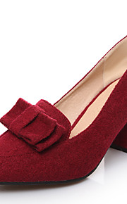 Women's Shoes Chunky Heel Heels / Pointed Toe Heels Dress / Casual Red / Gray