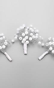 Dame / Blomsterpige Legering / Imitert Perle Headpiece Bryllup / Spesiell Leilighet Hårspenne Bryllup / Spesiell Leilighet 3 deler