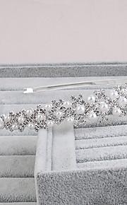結婚式 / パーティー / カジュアル / オフィス / 屋外 成人用 真珠 かぶと ヘッドバンド 1個