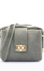 Women PU Envelope Shoulder Bag-Pink / Gray / Black