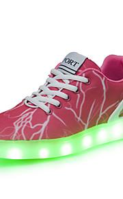 Розовый-Женская обувь-Для прогулок / На каждый день / Для занятий спортом-Деним-На плоской подошве-С круглым носком-Кроссовки