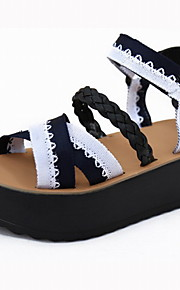 Желтый / Белый-Женская обувь-Для офиса / Для праздника / На каждый день-Дерматин-На платформе-На платформе / Криперы-Сандалии