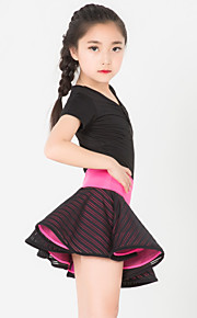 Latin Dance Outfits Children's Performance Spandex / Polyester  2 Pieces Black / Red