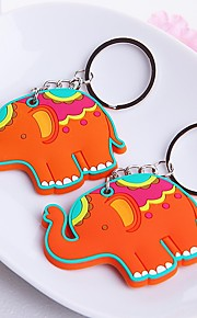 Beter Gifts® -1Piece/Set Rubber Lucky Elephant Key Chain Tea Party Favors