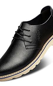 Chaussures Hommes Mariage / Décontracté / Soirée & Evénement Noir / Blanc Cuir Richelieu