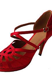 Sapatos de Dança(Vermelho) -Feminino-Não Personalizável-Latina