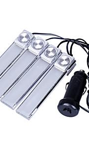1set 4stk bil atmosfære lys bil LED lys atmosfære bilen lyser indendørs lys på sålen