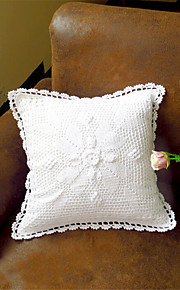 Pure White Eco-Friendly Cotton 100% Handmade 3D Flower Wedding Chair Decor