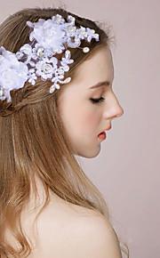 Capacete Bandanas / Pentes de Cabelo / Flores / Clip para o Cabelo Casamento / Ocasião Especial Cetim / Imitação de PérolaMulheres /