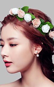 Women's Plastic Headpiece-Wedding / Special Occasion Birdal Roses Wreaths 1 Piece