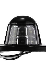 licencia placa con el número 6 LED lámpara de luz blanca para van coche camión de remolque