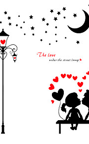Wedding Room Romance Lovers Heart Wall Stickers PVC Living Room Art Wall Decals