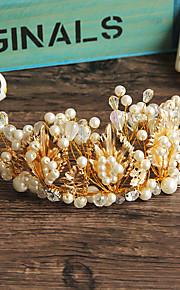 Women's Crystal / Brass / Alloy / Imitation Pearl Headpiece-Wedding / Special Occasion / Casual / Outdoor Tiaras 1 Piece