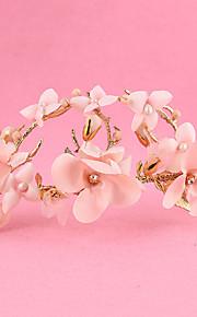 Women's / Flower Girl's Alloy / Fabric Headpiece-Wedding / Special Occasion / Outdoor Wreaths 1 Piece