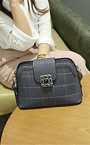 Women-Casual-PU-Shoulder Bag-Gray / Black