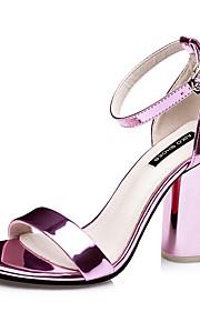 Фиолетовый / Серебристый / Серый / Золотистый / Цвета шампанского-Женская обувь-Для праздника-Дерматин-На толстом каблуке-На каблуках / С
