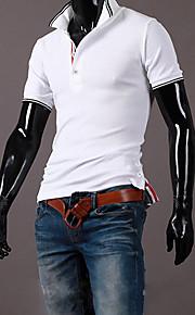 Katoen-Effen-Heren-T-shirt-Informeel / Werk / Formeel / Sport-Korte mouw