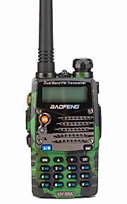 Baofeng UV-5RA Walkie-talkie 5W 128 136-174 mHz / 400-520MHz 1800mAh 1,5-3 kmFM-radio / Stemmekommando / Dual-band / Dual display /