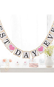 Popular Party Banner 'Best Day Ever' Wedding Bunting Decorations Graduation