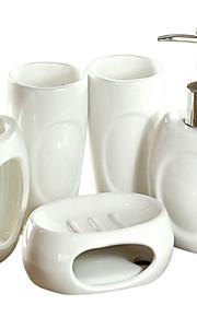 konkava ihåliga keramik badrum fem bit kostym (slumpvis färg)