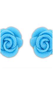Korean Version Of The Lovely Ladies Rose Flowers Pure Color Earrings