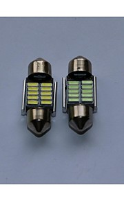 1pcs leeslamp 4014-10 / 12SMD wit blauw warm wit