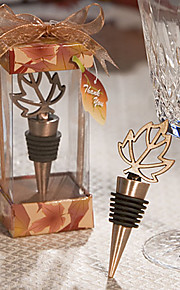 Vintage Leaf Wine Bottle Stopper Wedding Favors