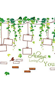 Wall Stickers Wall Decals Style Green Vine Frame PVC Wall Stickers