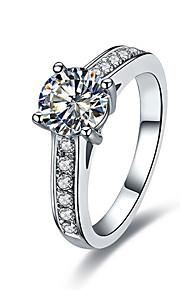 Qualität c Marke 4prongs 1ct sona Diamantring für Frauen Sterling Silber 925 in der Platin beschichtet Luxus Mikro gepflastert