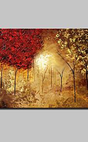 90x140cmをハングアップする準備ができてフレームとキャンバスの壁の芸術の絵に大きな手描きの風景の木の油絵は1つのパネル