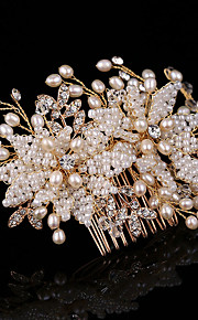 Women's Pearl / Rhinestone / Alloy Headpiece-Wedding / Special Occasion / Outdoor Hair Combs / Flowers 1 Piece