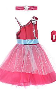Performance Dresses Children's Performance Spandex / Polyester Sash/Ribbon 2 Pieces Burgundy