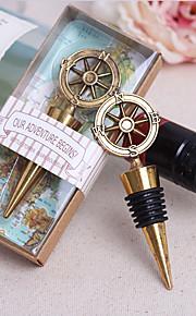 Bouchons de bouteille Bouteille Favor Thème classique Non personnalisé Chrome Doré 1Pièce/Set