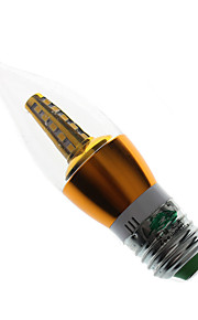 7W E26/E27 LED-lysestakepærer S14 25 SMD 2835 600 lumens lm Varm hvit Dekorativ AC 85-265 / AC 220-240 V 1 stk.
