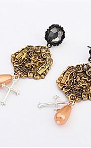 Pendiente Pendientes Gota Perla Artificial / Aleación Sin piedra De mujeres