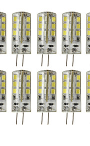 5W G4 LED à Double Broches T 24 SMD 2835 450 lm Blanc Chaud / Blanc Froid Décorative DC 12 V 10 pièces