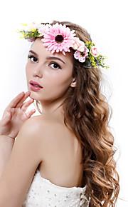 Women's Polyester / Fabric Headpiece-Wedding / Outdoor Elegant Handmade Flowers Birdal Wreaths 1 Piece