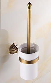 Toalettborsthållare / Borstad / Väggmonterad /20*10*37 /Mässing /Antik /20 10 0.957