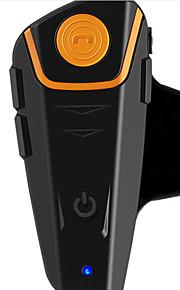 1000 metri moto casco interfono auricolare bluetooth senza fili del cavo FM impermeabile musica bt-s2
