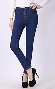 Women's Solid Blue Jeans / Skinny Pants,Vintage