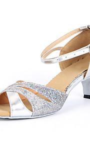 Chaussures de danse (Argent/Or) - Non personnalisable Paillettes scintillantes - Danse latine