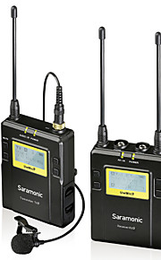 saramonic uwmic9 96-trådløst UHF knaphulskondensatormikrofon system til canon nikon PENTAX Sony DSLR& videokameraer video