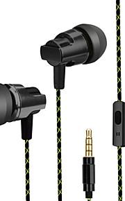 telefon headset øre øretelefoner metal bas hovedtelefoner med hvede wire dt-203