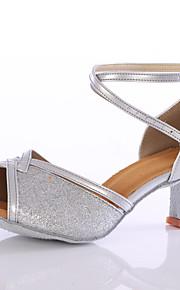 Sapatos de Dança(Azul / Rosa / Prateado / Dourado) -Feminino-Personalizável-Latina